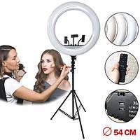 Профессиональная кольцевая светодиодная селфи лампа Ringh Light RL21 54 см для фотографов, блоггеров