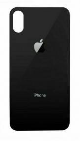 Задня кришка для Apple iPhone Xs чорна (сіра), з маленьким отвором під камеру, Оригінал Китай, фото 2
