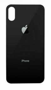 Задня кришка для Apple iPhone Xs чорна (сіра), з маленьким отвором під камеру, Оригінал Китай