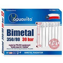 Секція біметалічного радіатора AQUAVITA 350/80, 30 бар