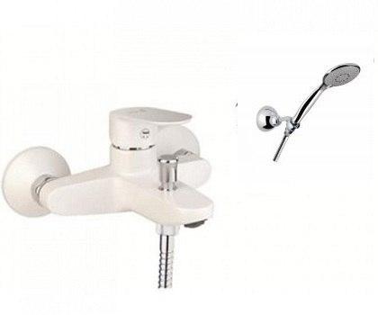 Смеситель для ванны Santan KEVON CHIC 81WX8150 White с душевым гарнитуром