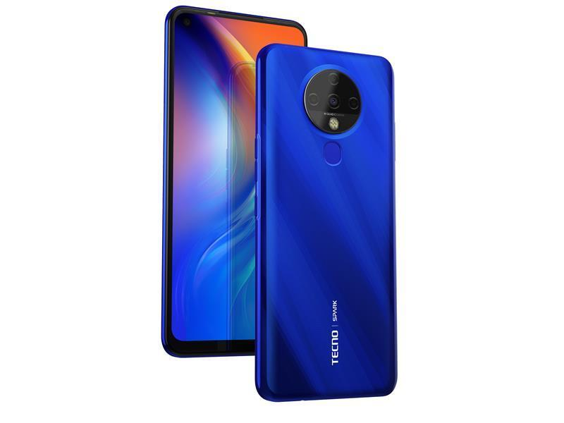 "Смартфон Tecno Spark 6 (KE7) 4/128GB Dual Sim Ocean Blue (4895180762062); 6.8"" (1640х720) IPS / MediaTek Helio"