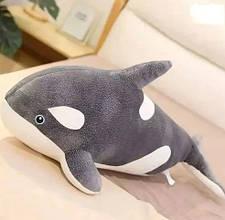 Плед игрушка подушка 3в1  Морской кит (касатка) серый Игрушка детский плед Игрушки-Подушки Мягкая игрушка
