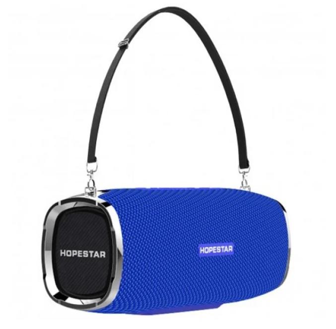 Мощная Bluetooth колонка Hopestar A6 (синяя) водонепроницаемая влагозащищенная портативная беспроводная