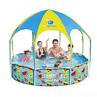 Каркасный бассейн Bestway 56432, 244 x 51 см навес, душ