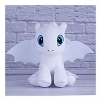 Детская мягкая игрушка дракон беззубик Дневная Фурия 30 см.