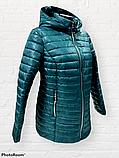 """Жіноча демісезонна коротка куртка великих розмірів """"Віка"""", фото 5"""