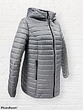 """Жіноча демісезонна коротка куртка великих розмірів """"Віка"""", фото 7"""