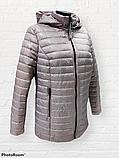 """Жіноча демісезонна коротка куртка великих розмірів """"Віка"""", фото 8"""