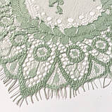 Ажурне французьке мереживо шантильї (з віями) м'ятного кольору завширшки 40 см, довжина купона 3,0 м., фото 4
