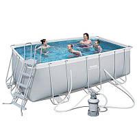 Каркасный бассейн Bestway 56457 (Песочный фильтр,лестница) 412 х 201 х 122 см