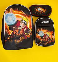 Рюкзак Наруто детский подростковый для школы, сумка и пенал в наборе