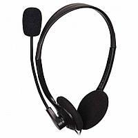 Наушники с микрофоном проводные Gembird MHS-123 2*3.5мм(3) каб.1.8м рег.гр. чёрные новые
