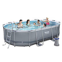 Каркасный бассейн Bestway 56620, 424 x 250 x 100 см (Фильтр насос 2 006 л/ч,лестница)