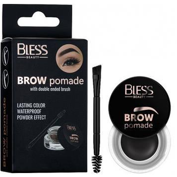 Помадка-гель для бровей Bless Beauty Brow Pomade - №4 (Soft Black)