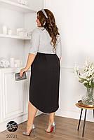 Вечірній трикотажне плаття з люрексом з 48 по 58 розмір, фото 2