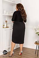 Вечірній трикотажне плаття з люрексом з 48 по 58 розмір, фото 3