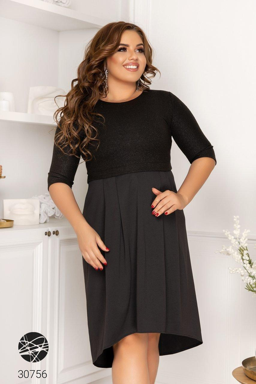 Вечірній трикотажне плаття з люрексом з 48 по 58 розмір