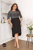 Вечірній трикотажне плаття з люрексом з 48 по 58 розмір, фото 4