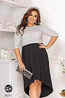 Вечірній трикотажне плаття з люрексом з 48 по 58 розмір, фото 5