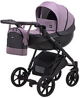 Детская коляска 2 в 1 Bair Next кожа 100% фиолет, фото 1