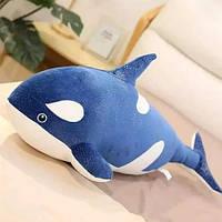 Плед игрушка подушка 3в1  Морской кит (касатка) синий Игрушка детский плед Игрушки-Подушки Мягкая игрушка