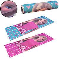"""Детский Йогамат """"Барби"""" Barbie коврик для йоги детский розовый для девочек 61*173*6 мм, PVC,"""