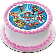 Вафельные картинки на детский торт и капкейки на день рождения в стиле Щенячий патруль