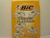 Двусторонние лезвия Bic Chrome Platinum  5 шт. (Бик Хром Платинум), фото 1