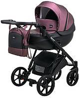 Детская коляска 2 в 1 Bair Next кожа 100% фиолетовый (перламутр), фото 1