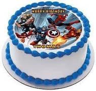 """Вафельные картинки на детский торт и капкейки на День Рождения в стиле """"Супергерои Мстители"""""""