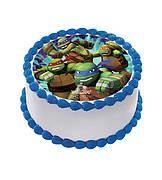 """Вафельные картинки на детский торт и капкейки на День Рождения в стиле """"Черепашки Ниндзя"""""""