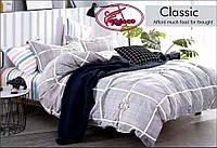 Двоспальне постільна білизна сіра