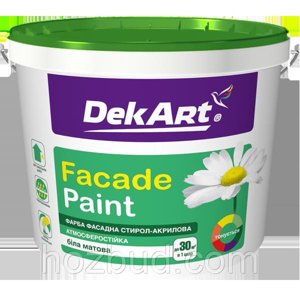 "Краска водно-дисперсионная фасадная Faсade Paint TM ""DekART"", 1,2кг (белая)"