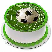"""Вафельные картинки на детский торт и капкейки на День Рождения в стиле """"Футбол"""""""