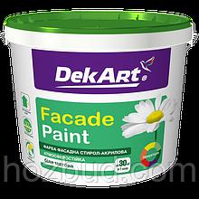 "Фарба водно-дисперсійна фасадна Faсade Paint ТМ ""DekART"", 4кг (біла)"