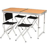 Стол складной со стульями для кемпинга, пикника Easy Camp Belfort Brown (540016)