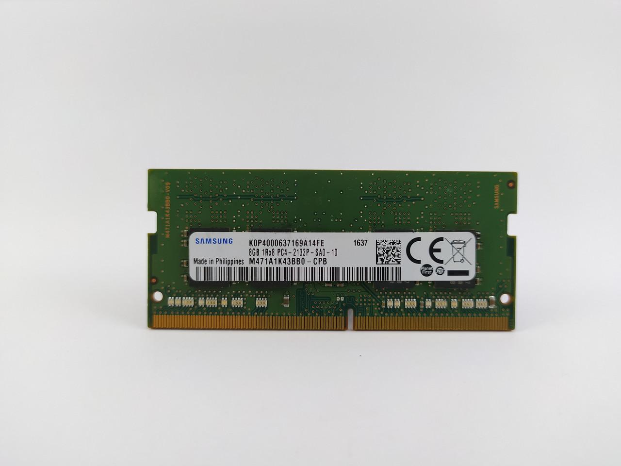 Оперативная память для ноутбука SODIMM Samsung DDR4 8Gb PC4-2133P (M471A1K43BB0-CPB) Б/У
