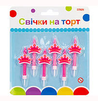 """Набор """"Принцесса"""" 6 свечей на торт; 6 подставок для свечей MX620153"""