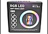Кільцева RGB лампа 30 см для фото та відео зйомки | Селфи кільце для телефону MJ26, фото 7