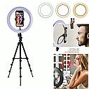 Кільцева лампа 26 см зі штативом 2,1 м. | Селфи кільце для телефону Ring Fill Light, фото 7