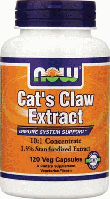 Кошачий Коготь, Now Foods, Cats Claw Extract, 120 caps