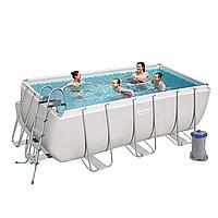 Каркасный бассейн Bestway 56456, 412 х 201 х 122 см (Фильтр насос 2 006 л/ч, дозатор, лестница)