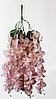 Нежно розовые свисающие искусственные цветы глицинии,ампельные растения 55см