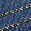 Черненая серебряная цепочка Ромб 45 см C-09