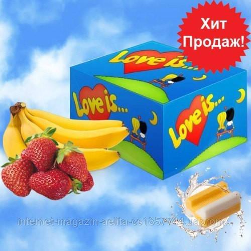 """Блок жуйок """" Love is... зі смаком банана і полуниці"""