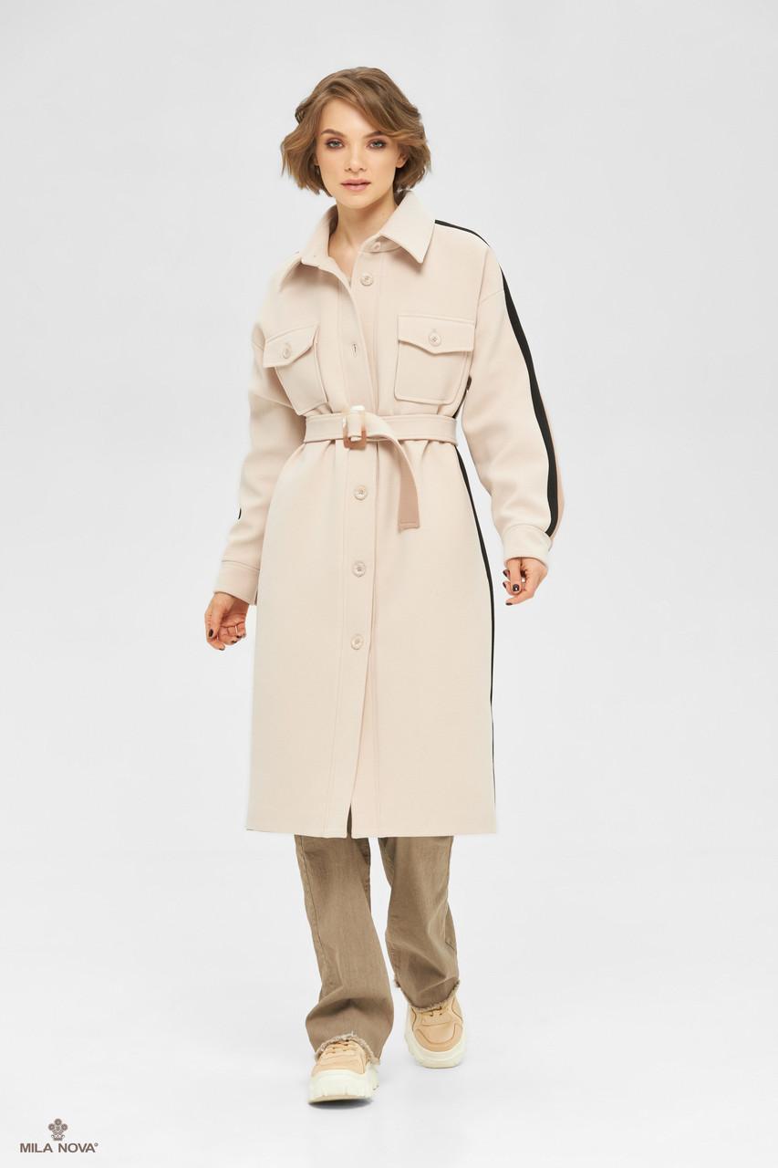Пальто-рубашка женское стильное демисезонное крутое и яркое размеры: 42-48