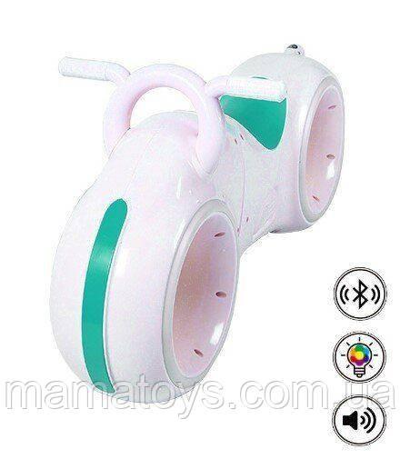 Детский Беговел GS-0020 White/Green Bluetooth LED подсветка белый с зеленым в стиле Трон