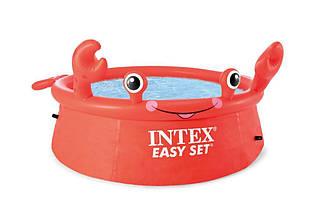 Басейн наливний INTEX Краб круглий 26100