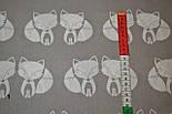 Ткань с лисичками на сером фоне (№ 1)., фото 3